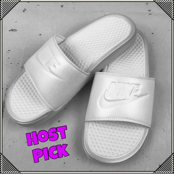 a95525c522f3 Nike Just Do It   Benassi Metallic Slides   Sandal